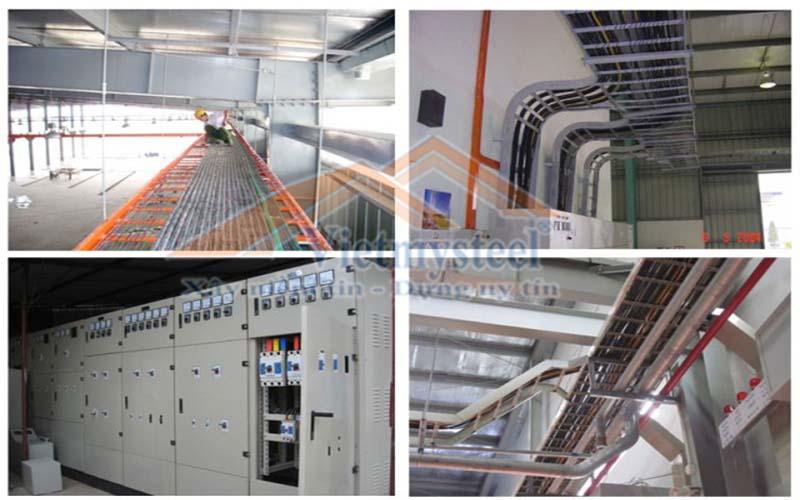 Quy trình thi công hệ thống điện công nghiệp Vietmysteel
