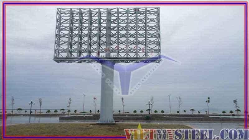 Thi công kết cấu thép Pano – Billboard quảng cáo ngoài trời