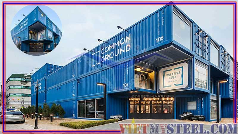 Mẫu thiết kế nhà container đẹp làm shop thời trang