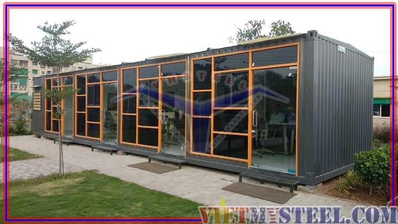 Mẫu thiết kế nhà container đẹp với màu đen quyển rũ