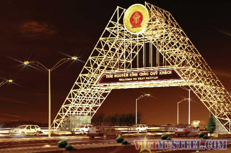 Cổng chào thành phố, huyện, tỉnh