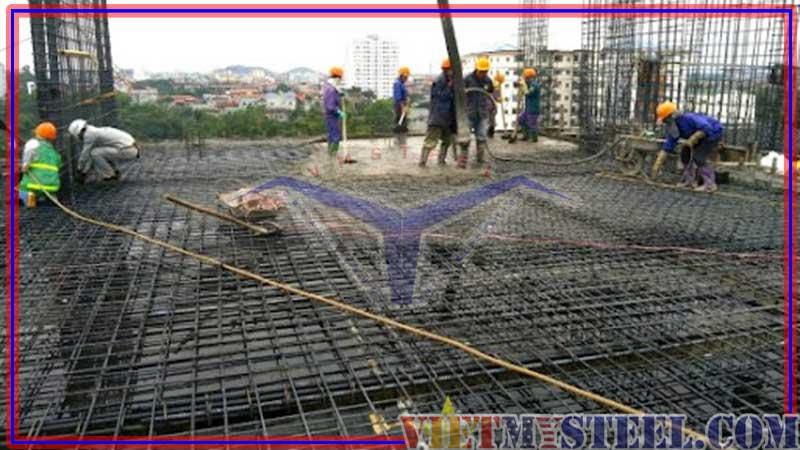 Tổng quan về quá trình đổ bê tông sàn nhà xưởng công nghiệp.