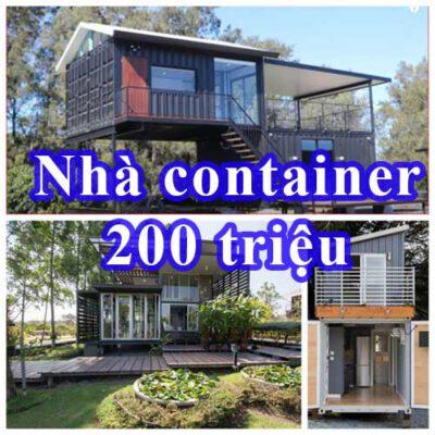 Nhà container 200 triệu
