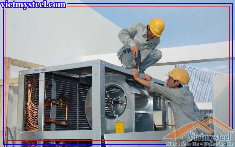 Báo giá thiết kế thi công hệ thống làm mát nhà xưởng bằng điều hoà trung tâm.
