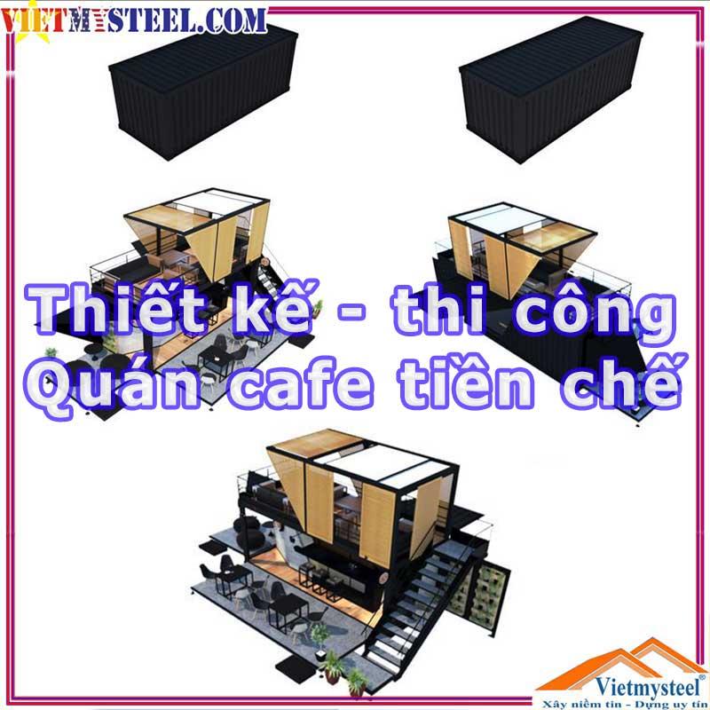Thiết kế thi công quán cafe khung thép tiền chế