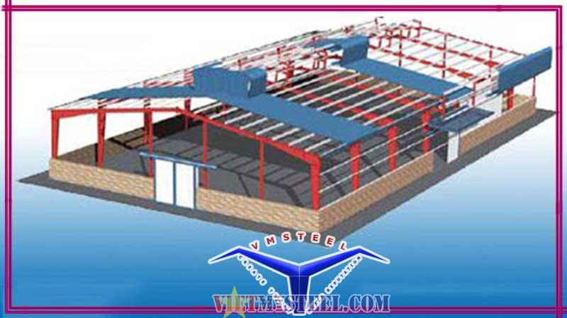 Cấu tạo của mái nhà xưởng công nghiệp