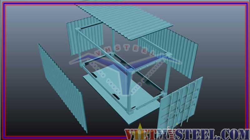 Cấu tạo nhà container