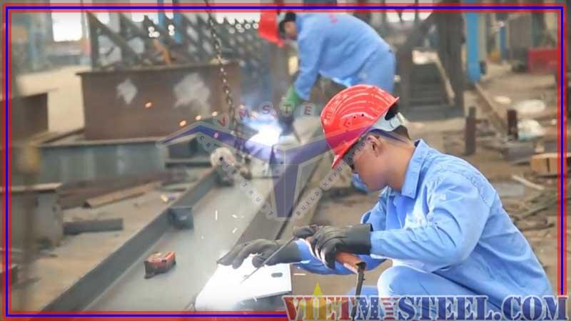 Quy trình gia công kết cấu thép Vietmysteel - hàn kết cấu