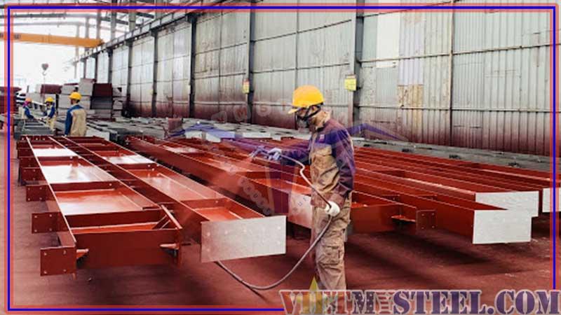 Quy trình gia công kết cấu thép Vietmysteel - sơn kết cấu thép