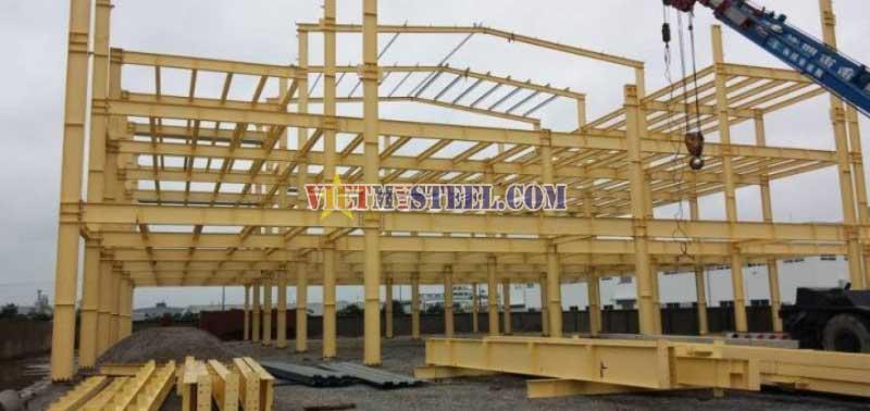 Thi công xây nhà trọ tiền chế - lắp dựng nhà trọ khung thép.