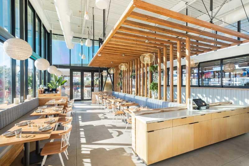 Thiết kế nhà hàng bằng khung thép tiền chế.