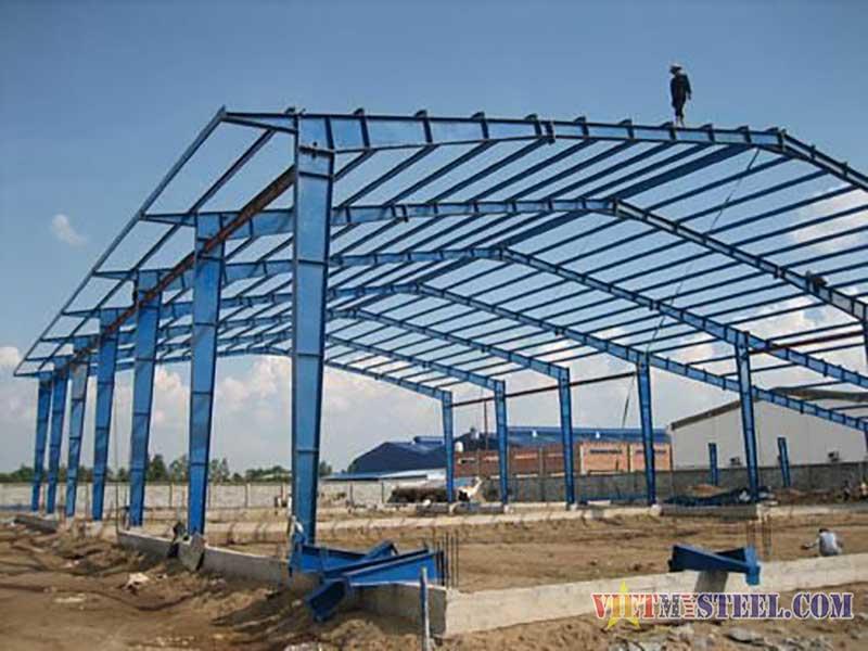 Thi công lắp dựng nhà xưởng khung thép tiền chế