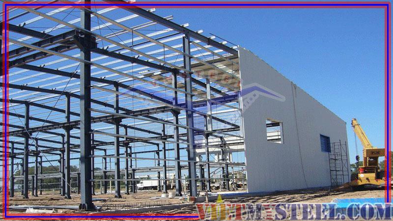 Xây dựng nhà xưởng khung thép tiền chế